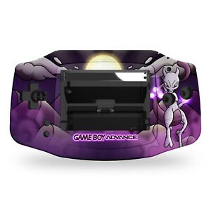Game Boy Advance Shell Case Mewtwo Pokemon UV Printed IPS Replacement GBA
