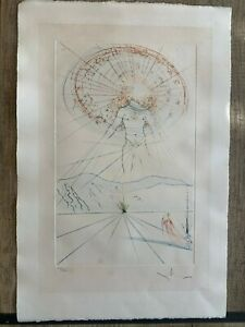 lithography Salvador DALI - The voice of my beloved handsigned