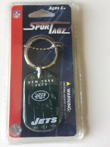 NEW YORK JETS DOG TAG/NECKLACE KEY CHAIN NEW AND OFFICIALLY LICENSED