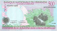 Rwanda 500 Francs 1998 Unc pn 26a