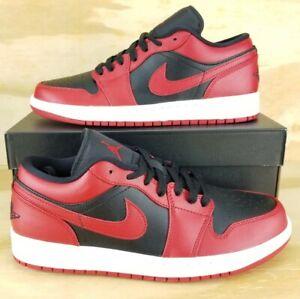Nike Air Jordan 1 Low Retro 'Reverse Bred' 2020 OG Black Red 553558-606 Sz 10.5