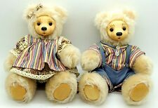 """Sidney and Caroline 7-1/2"""" Mohair Bears by Robert Raikes Limited Edition 108500"""