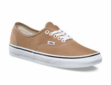 Vans Authentic Tiger's Eye True White Brown Men's Skate Shoes Size 7.5