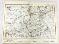 1902 Antique Railway Map of Germany Province of Posen Prussia Poland Railroads