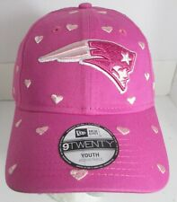 Patriots New England Youth Hat Girls NFL New Era Pink Hearts Love