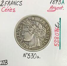 2 FRANCS CERES - 1873A - Pièce de monnaie en Argent // TTB