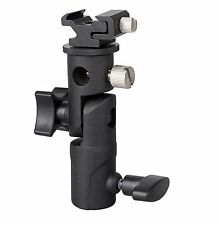 E Type Hot Shoe Flash Flashgun Speedlite Bracket Umbrella Holder Light Stand New