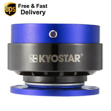 Universal Blue Car Steering Wheel Quick Release Hub Adapter Snap Off Boss Kits