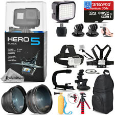GoPro Hero 5 Black Camera+ Wide angle & Telephoto Lens + 64GB - Loaded Bundle