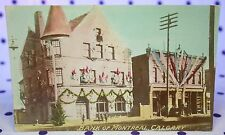 Rppc Vintage Tinted Bank of Montreal Calgary Alberta Canada Real Photo Postcard