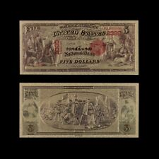 24K Us Gold Banknote Bill Dollar Foil 5 Usd Banknotes Worth Collection 1975 Year