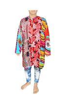 Indian Men's Cotton Kurta Ethnic Patchwork Boho Shirt Casual Wedding Wear Tunic