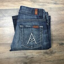 Seven 7 For All Mankind Womens Size 25 x 28 Jeans Blue A Pocket Bootcut Flare