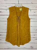 Maeve Anthropologie Women's Size 2 Yellow Sleeveless Spring Summer Top Blouse