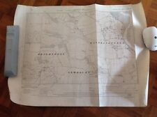 Vintage Mapa 1928 East Suffolk Woodbridge división Brightwell waldringfield