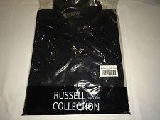 Bnwt Da Uomo Russell Collection 918m manica lunga twill ROLL Camicia. NERO S. E7.