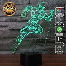 Flash DC League Justice Avengers 3D Acrylic LED 7 Colour Night Light Touch Lamp