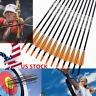 "6pcs 31"" Archery Arrow Fiberglass Arrows Nocks Fletched Target Practice Hunting"
