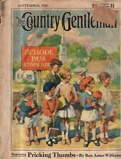 1929 Country Gentleman September- waiting for the school bus; Immigration; hogs