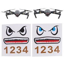 2x Shark Sticker Decal Skin Face Sticker for DJI Mavic Pro Drone Quadcopter New