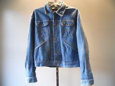 Vintage 1960s Wrangler Blue Bell Jeans Jacket Rockabilly Western Cowboy Denim 42