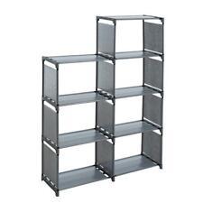 Bücherregal Standregal Stufenregal Treppenregal Regal Wandregal 7 Fächer Grau