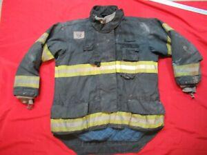 MFG. 2011 MORNING PRIDE 46 x 31/37 Firefighter Turnout Bunker JACKET FIRE BLACK