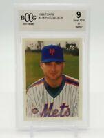 1996 Topps PAUL WILSON Future Star Card Beckett BCCG 9 Near Mint or Better #214