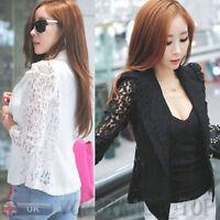 US Fashion Women Long Sleeve Casual Blazer Jackets Ladies Slim Short Blazer Suit