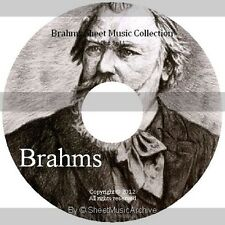 Massive Professional Brahms Sheet Music Collection Archive Library on DVD