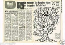 Coupure de presse Clipping 1975 (2 pages) La malédiction des Templiers St Louis