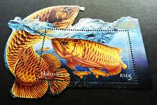 Malaysia Ornamental Fishes 2018 Pet Fish (ms) MNH *gold goil *odd unusual