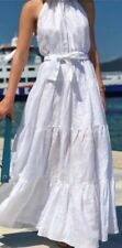 Zara White Tiered Halter Neck Dress Size Medium BNWT