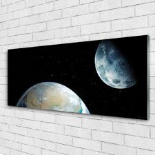 Acrylglasbilder Wandbilder aus Plexiglas® 125x50 Mond Erde Weltall Weltall