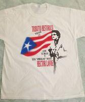Hector Lavoe  tribute PR FLAG white t-shirt size XXL Malissimo records logo back