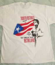 Hector Lavoe  tribute PR FLAG white t-shirt size XXL Malissimo records logo back