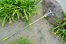 ML Garden Tools 64-inch Adjustable Garden Leaf Rake R8236