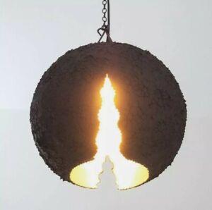 Trio Leuchten Pendelleuchte Eva, Struktur schwarz, innen silberf. NEU