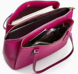 Kate Spade Monet Large Triple Compartment Purple Leather Tote WKRU6948 $399 MSRP