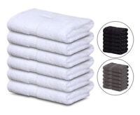 GOLD TEXTILES Cotton Large Bath Hand Gym Spa Towels 4-Pack16x30-Highly Absorbent