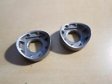 Pair of Shimano 7800 Braze-On Shift Lever Boss Cover Radiused Downtube shifters