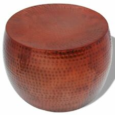 vidaXL Coffee Table Round Aluminium With Copper Finish Brown