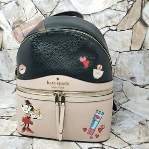 Kate Spade X Minnie Mouse Limited Edition Medium Pebble Leather Backpack Karina
