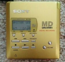 Sony MZ-R55 MD MiniDisc Personal Portable Player Recorder Gold Yellow