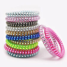 Women Hair Ring Rope Elastic Ponytail Holder Telephone Wire Cord Hair Band Ties