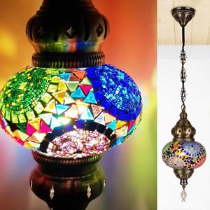 Turkish Moroccan Hanging Ceiling Mosaic Lamp Light Pendant Chandelier Multicolor