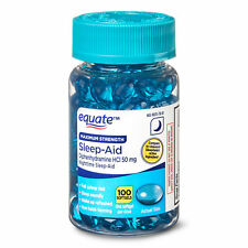Equate Maximum Strength Sleep-Aid Softgels, 100 Count