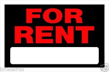 """FOR RENT Sign 8""""x12"""" Red Plastic with blank Rental Apartment Home Hillman 839926"""