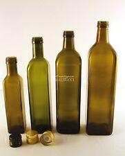 N°32 Bottiglie marasca in vetro OLIO da 250mL con tappo a vite con salvagoccia