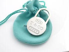 Tiffany & Co Silver RARE 1837 Padlock Keychain Key Chain Key Ring!